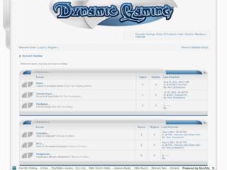 Screenshot of dynamicgaming.jcink.net