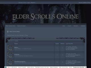 Screenshot of elderscrollsonline.jcink.net