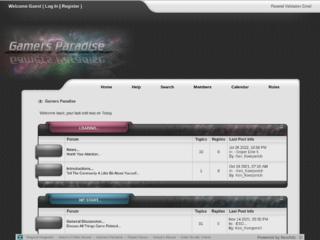 Screenshot of gamersparadise.jcink.net