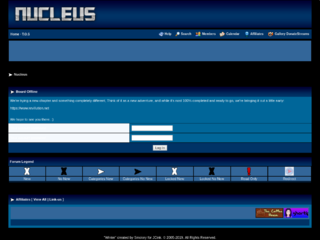 Screenshot of nucleus.jcink.net