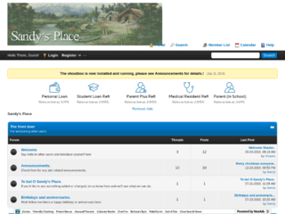 Screenshot of sandysplace.createmybb4.com