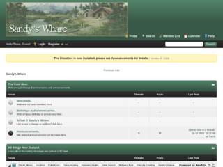 Screenshot of sandyswhare.createmybb4.com