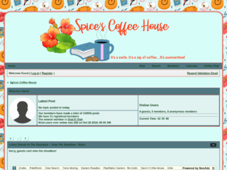 Screenshot of spicescoffeehouse.com