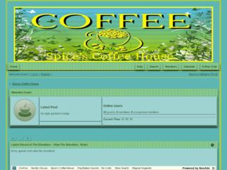 Screenshot of spicescoffeehouse.com
