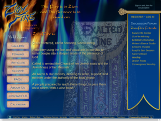 Screenshot of zionfire.com
